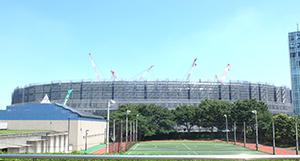 東京2020大会に向かい新国立競技場は着々と完成に近づいている
