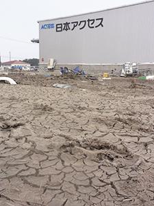 東日本大震災で東北の食品流通の要衝である「岩沼臨空流通工業団地」(宮城県岩沼市)が損壊した影響は甚大だった(平成23年)