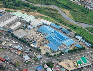 福島市内に位置するコープ食品東北工場