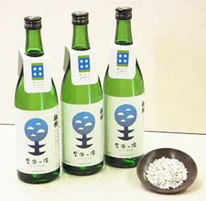 カキ殻を活用して栽培された酒米・雄町(里海米)で醸した「梅錦 里海の環」