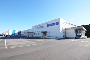 JR東海道本線・新所原駅より車で7分の場所にある有楽製菓 豊橋夢工場。直売所も併設されている