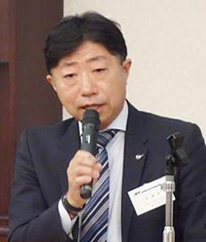 退任を表明した高橋宏典会長