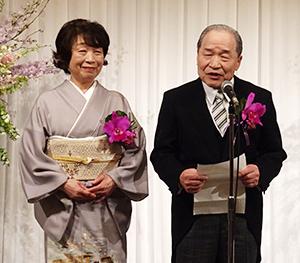 島貫文好会長(右)とひとし夫人