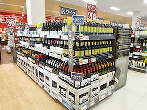 直輸入ワインのコーナーを常設で展開