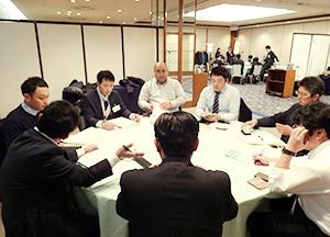 グループディスカッションでは業務上の諸問題について活発な議論がなされた