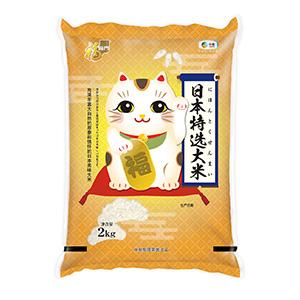 中国コメ売場で目立つ「福臨門」ブランドの日本米