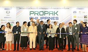 フィリピンで初開催となった包装産業展プロパックフィリピンの開会式・テープカットの模様