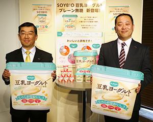 岩田義浩社長(左)と大槻洋揮執行役員