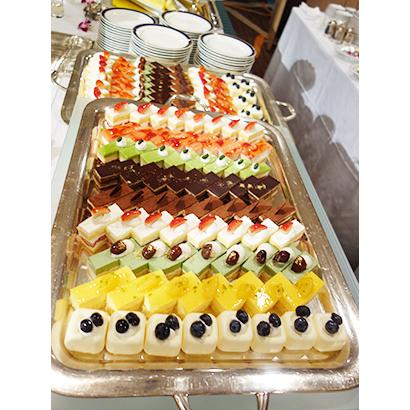 ホテル・宴会場向けのケーキ類は伸長が続く